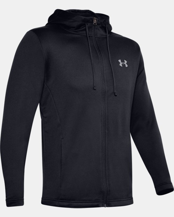 Men's UA Tech™ Terry Full Zip, Black, pdpMainDesktop image number 4