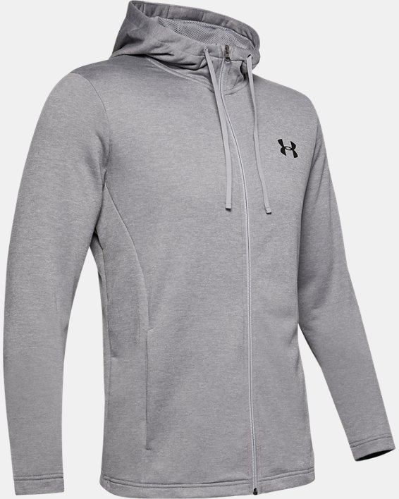 Men's UA Tech™ Terry Full Zip, Gray, pdpMainDesktop image number 4