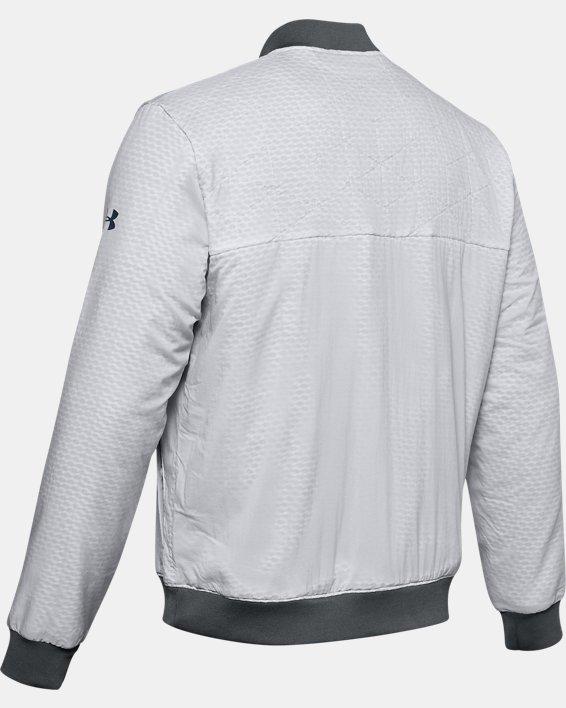 Men's ColdGear® Reactor Bomber Jacket, Gray, pdpMainDesktop image number 5