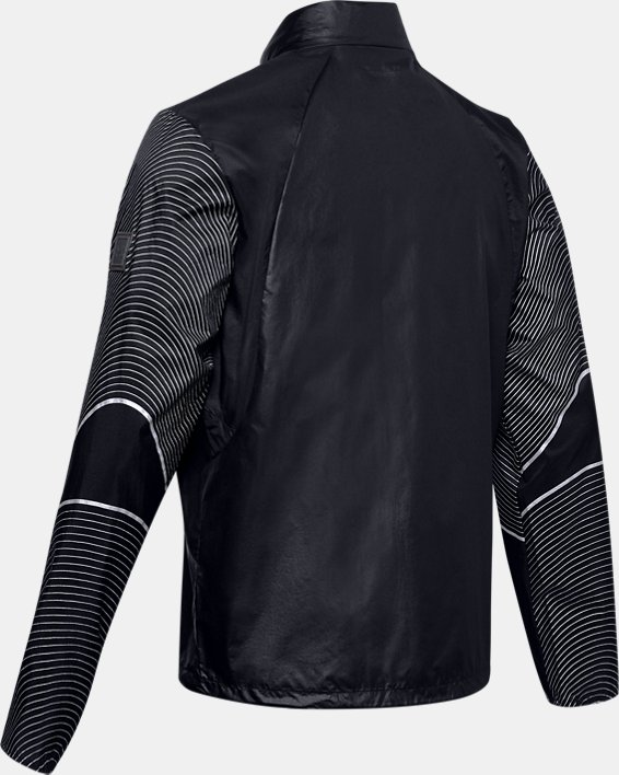 Men's UA Run Impasse Wind Reflect Jacket, Black, pdpMainDesktop image number 4