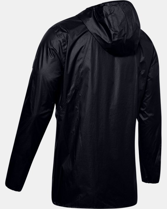 Men's UA Impasse Rain Shell Jacket, Black, pdpMainDesktop image number 5