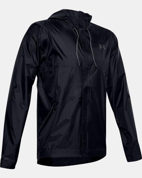 Men's UA Cloudburst Shell Jacket, Black, pdpMainDesktop image number 4