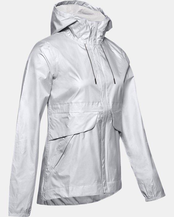Women's UA Cloudburst Shell Jacket, Gray, pdpMainDesktop image number 3