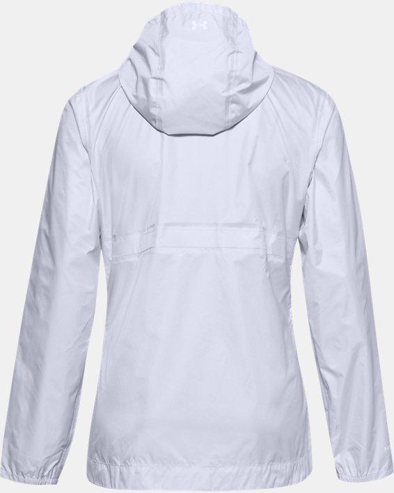 Women's UA Cloudburst Shell Jacket, White, pdpMainDesktop image number 4