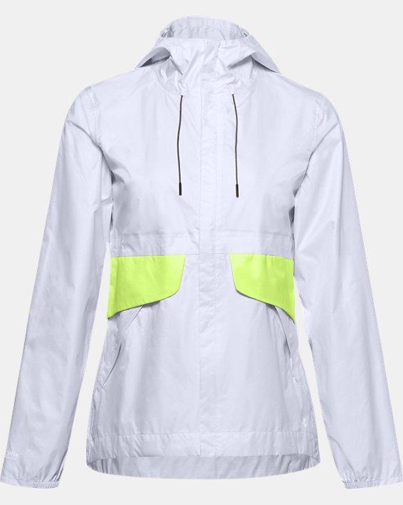 Women's UA Cloudburst Shell Jacket, White, pdpMainDesktop image number 3