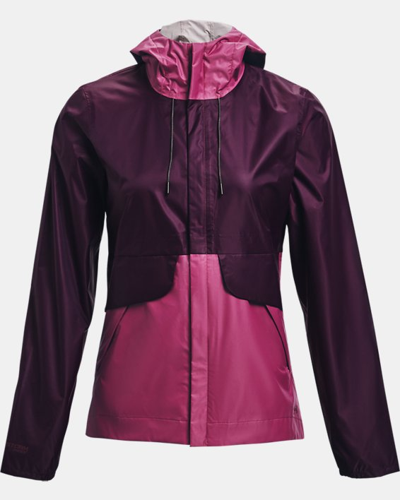 Women's UA Cloudstrike Shell Jacket, Purple, pdpMainDesktop image number 5