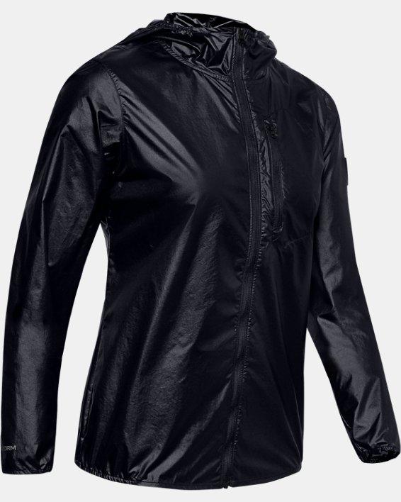 Women's UA OD Impasse Wind Jacket, Black, pdpMainDesktop image number 3
