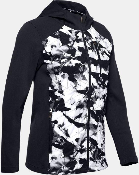 Women's ColdGear® Reactor Hybrid Lite Print Jacket, Black, pdpMainDesktop image number 3