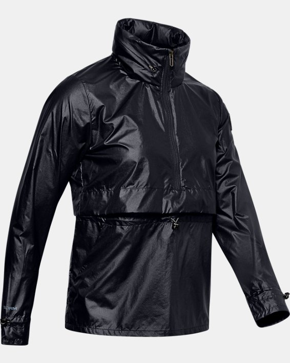 Men's UA Impasse Synch Wind Jacket, Black, pdpMainDesktop image number 3