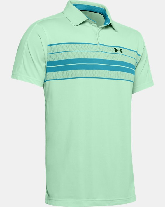 Men's UA Vanish Chest Stripe Polo, Green, pdpMainDesktop image number 3