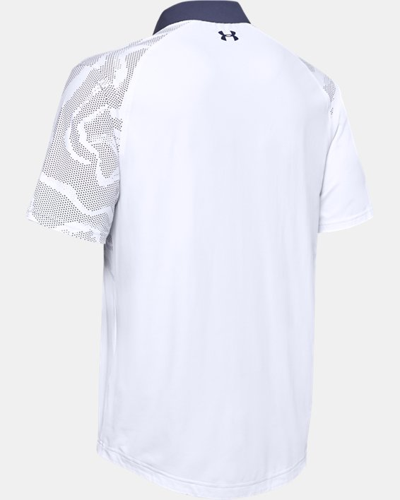 Men's UA Iso-Chill Shadow Polo, White, pdpMainDesktop image number 4