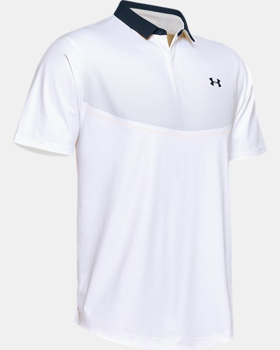Men's UA Iso-Chill Graphic Polo, White, pdpMainDesktop image number 3