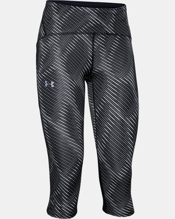 Women's UA Fly Fast Printed Capri, Black, pdpMainDesktop image number 4