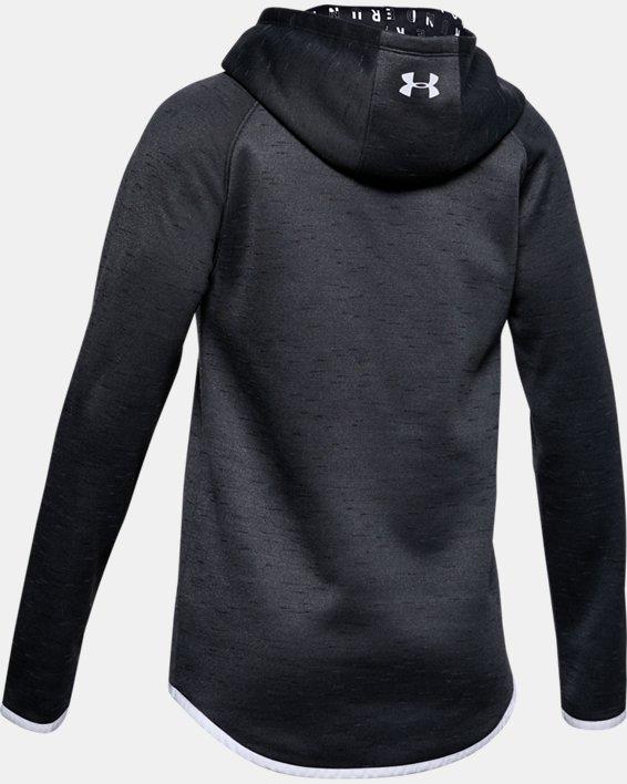 Girls' Armour Fleece® Big Logo Twist Hoodie, Black, pdpMainDesktop image number 5