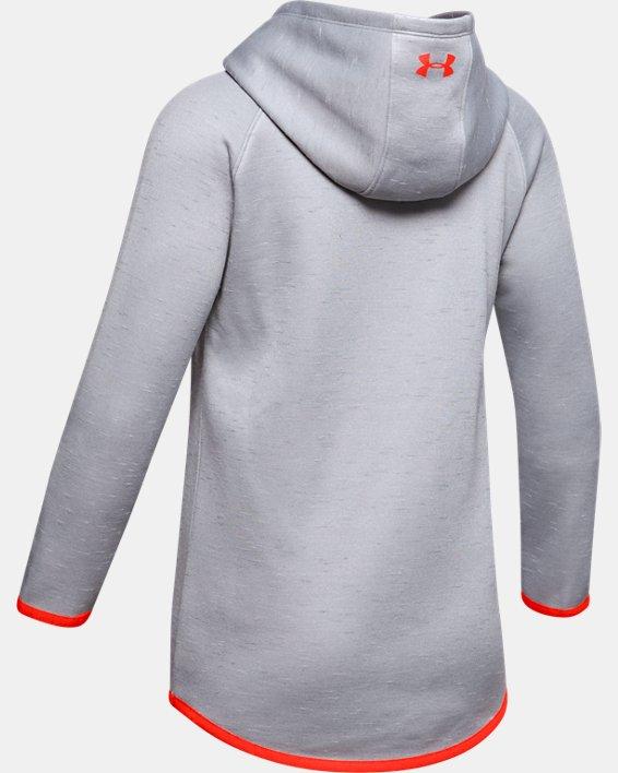 Girls' Armour Fleece® Big Logo Twist Hoodie, Gray, pdpMainDesktop image number 5