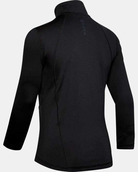 Women's UA RUSH™ Full Zip, Black, pdpMainDesktop image number 4