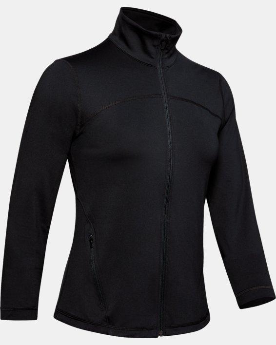 Women's UA RUSH™ Full Zip, Black, pdpMainDesktop image number 3