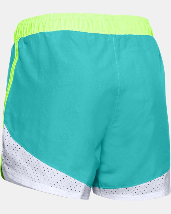 Girls' UA Fast Lane Shorts, Blue, pdpMainDesktop image number 1
