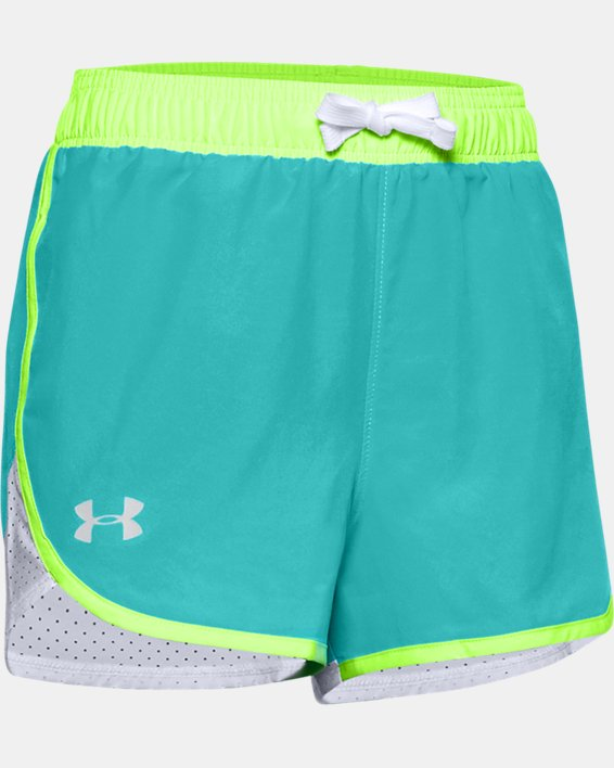 Girls' UA Fast Lane Shorts, Blue, pdpMainDesktop image number 0
