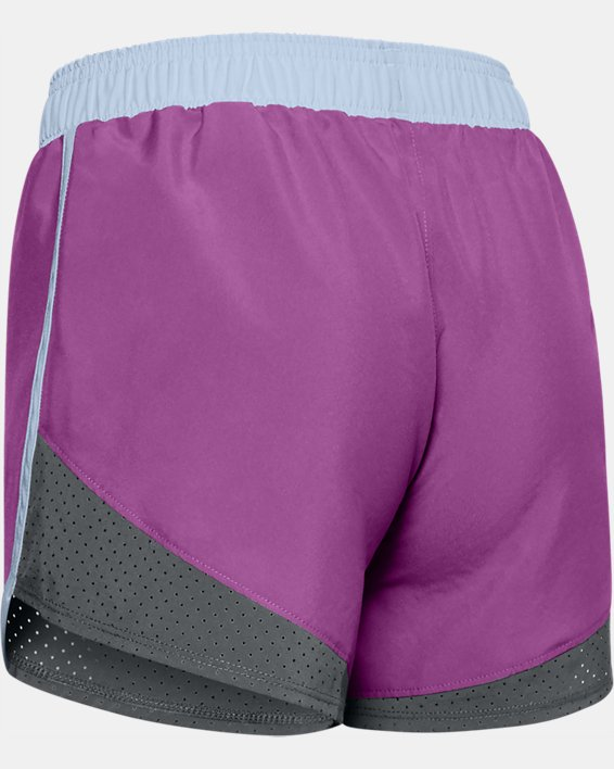 Girls' UA Fast Lane Shorts, Purple, pdpMainDesktop image number 1