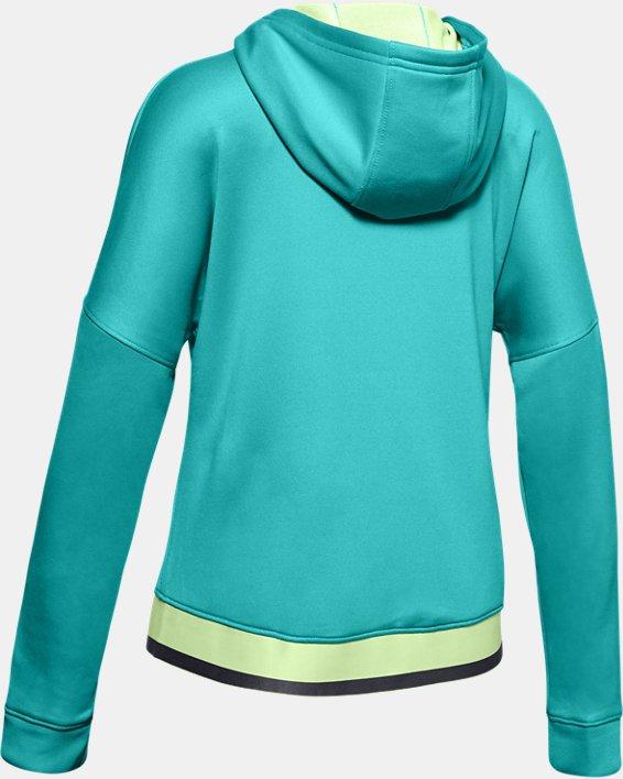 Girls' UA Tech™ Terry Full Zip Hoodie, Blue, pdpMainDesktop image number 1