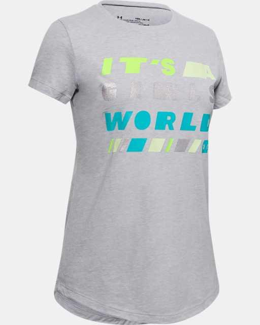 Girls' UA Girl's World Short Sleeve