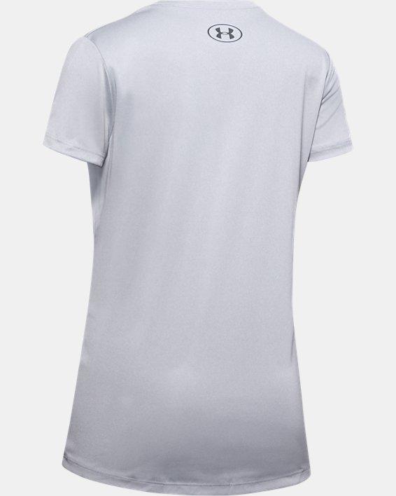 Girls' UA Tech™ Any Hoop Short Sleeve, Gray, pdpMainDesktop image number 1