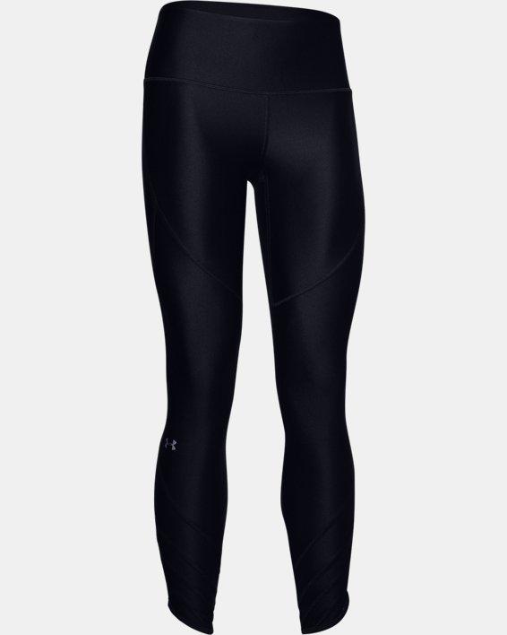 Women's HeatGear® Armour Cutout Ankle Crop, Black, pdpMainDesktop image number 4