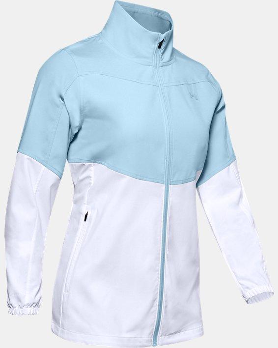 Veste UA Storm Windstrike Full Zip pour femme, Blue, pdpMainDesktop image number 4