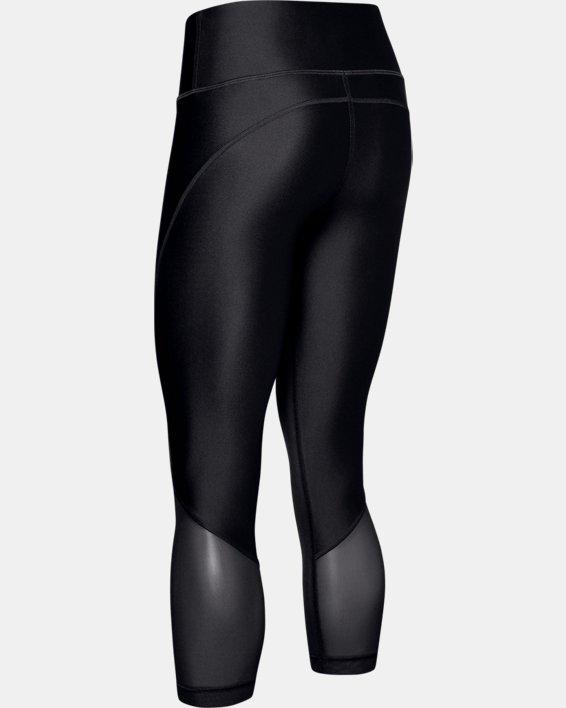 Women's Project Rock HeatGear® Armour Mesh Ankle Crop, Black, pdpMainDesktop image number 5