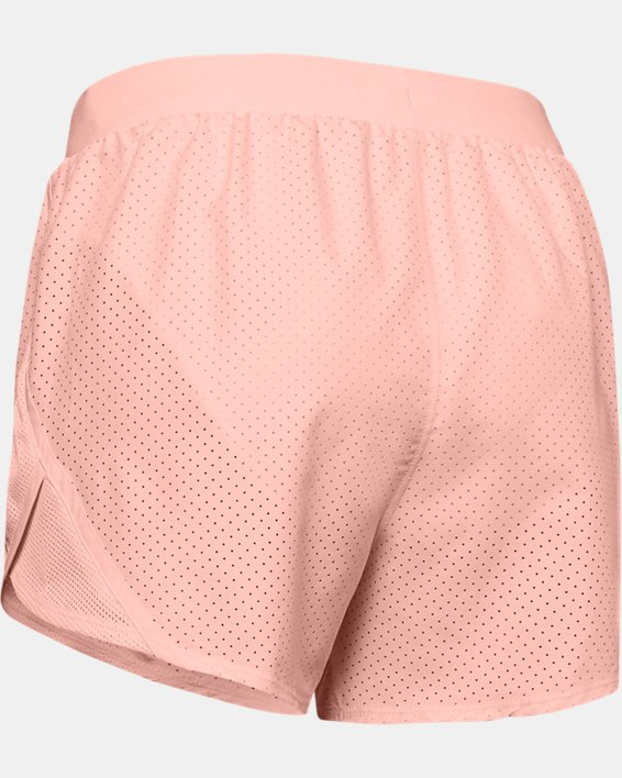 Women's UA Fly-By 2.0 Cire Perforated Shorts, Orange, pdpMainDesktop image number 5