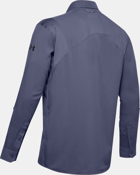 Men's UA Tide Chaser 2.0 Long Sleeve, Blue, pdpMainDesktop image number 4