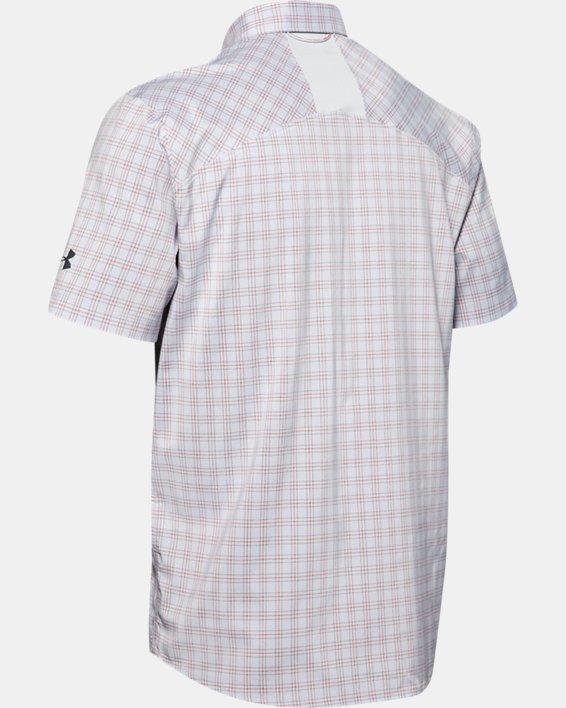 Men's UA High Tide Plaid Short Sleeve, Gray, pdpMainDesktop image number 4