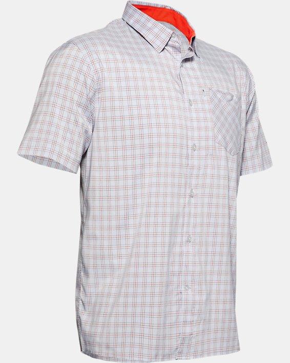 Men's UA High Tide Plaid Short Sleeve, Gray, pdpMainDesktop image number 3