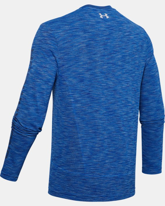 Men's UA Fish Hunter Seamless Long Sleeve, Blue, pdpMainDesktop image number 5