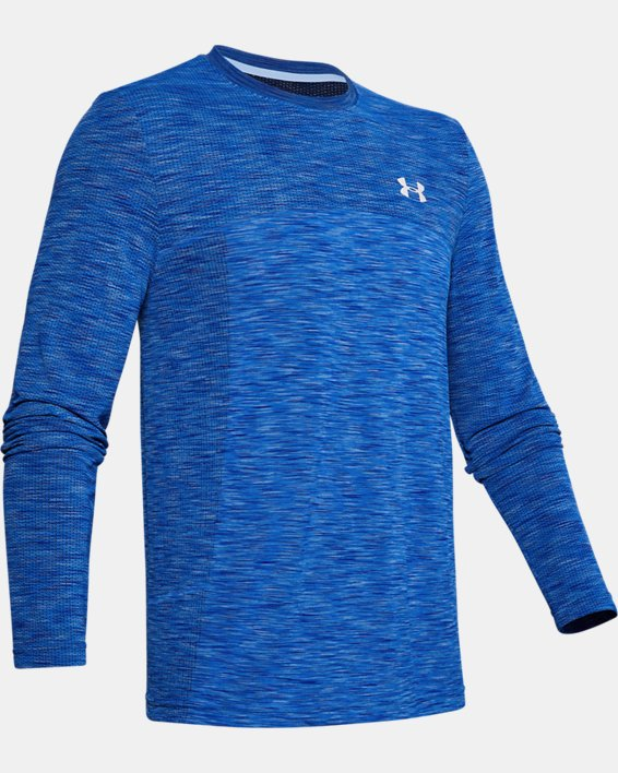 Men's UA Fish Hunter Seamless Long Sleeve, Blue, pdpMainDesktop image number 4