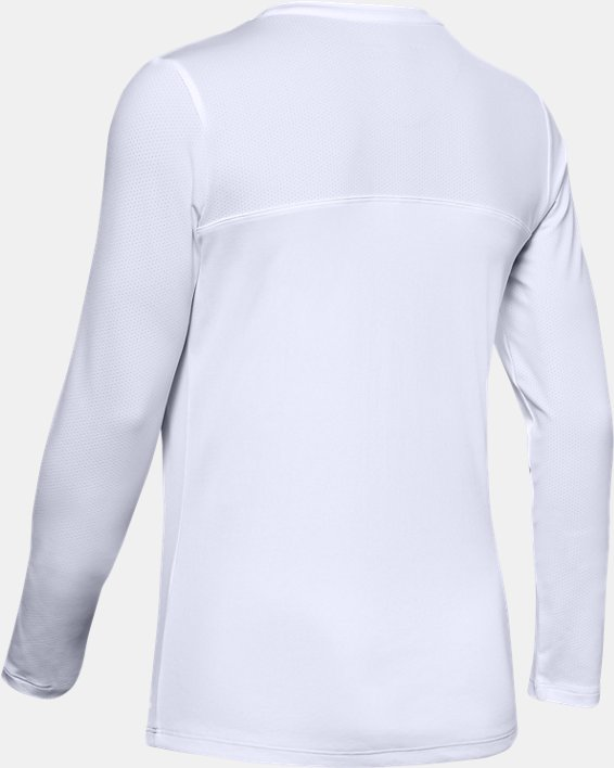 Women's UA Iso-Chill Shore Break Long Sleeve, White, pdpMainDesktop image number 4