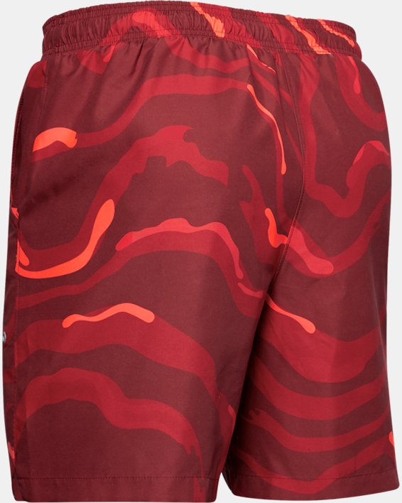 Men's UA Shore Break Volley Shorts, Red, pdpMainDesktop image number 4