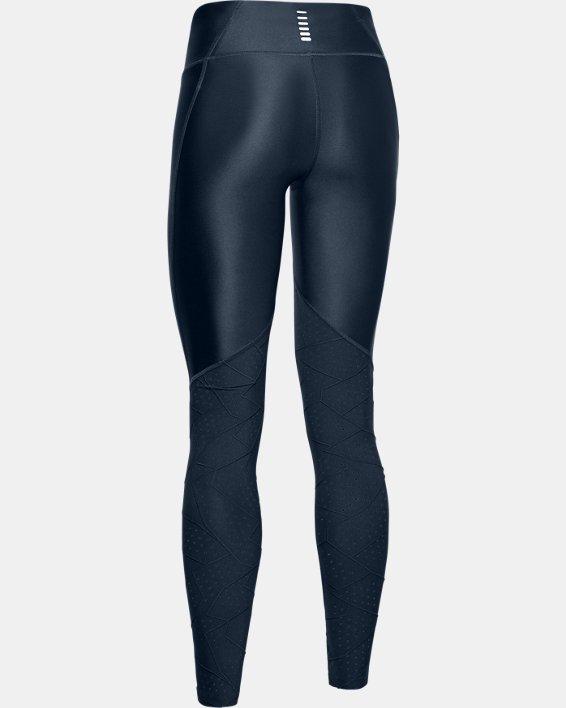 Women's UA Mileage Raised Thread Leggings, Navy, pdpMainDesktop image number 5