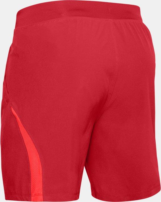 """Men's UA SpeedPocket 7"""" Shorts, Red, pdpMainDesktop image number 4"""