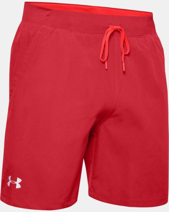 """Men's UA SpeedPocket 7"""" Shorts, Red, pdpMainDesktop image number 3"""