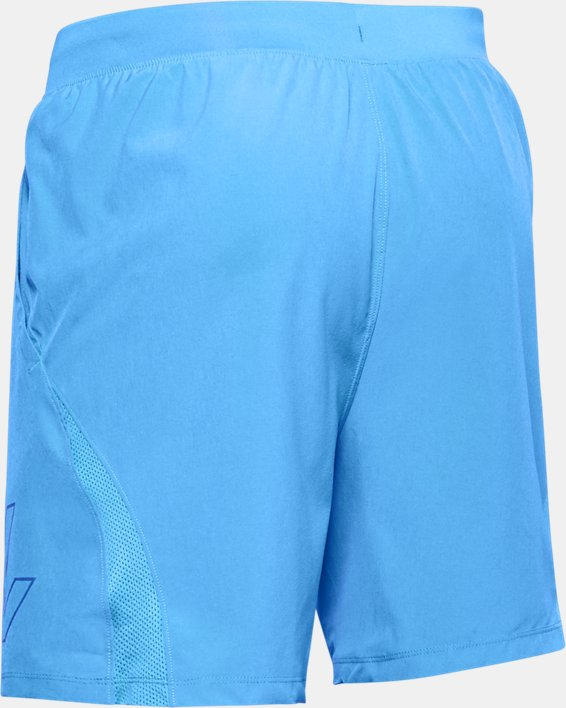 "Men's UA SpeedPocket 7"" Graphic Shorts, Blue, pdpMainDesktop image number 4"