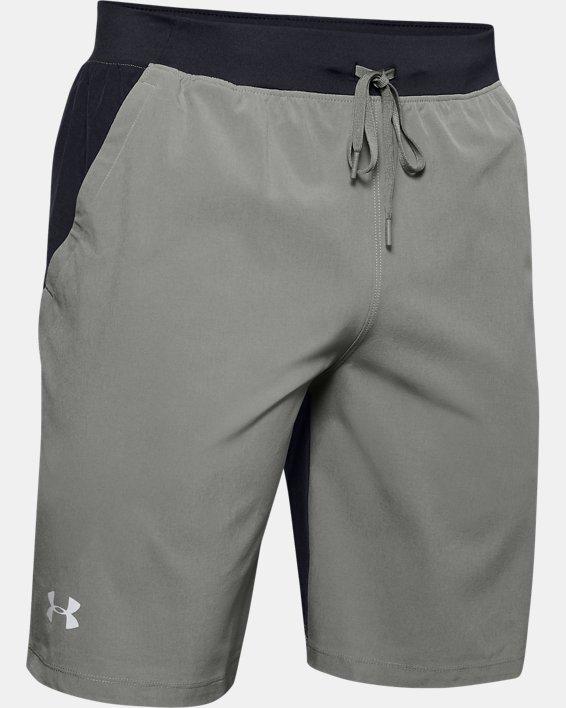 "Men's UA SpeedPocket 9"" Shorts, Green, pdpMainDesktop image number 3"