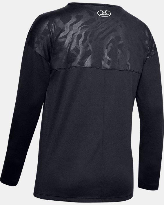 Women's UA Locker Emboss Long Sleeve, Black, pdpMainDesktop image number 5