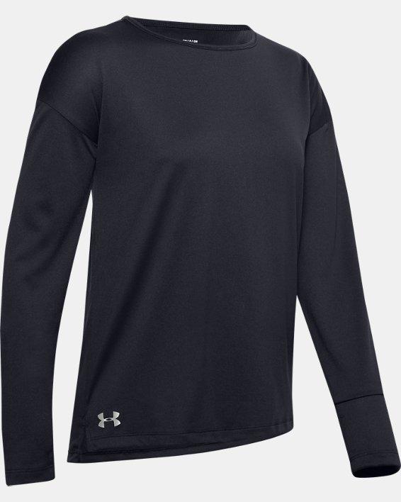 Women's UA Locker Emboss Long Sleeve, Black, pdpMainDesktop image number 4