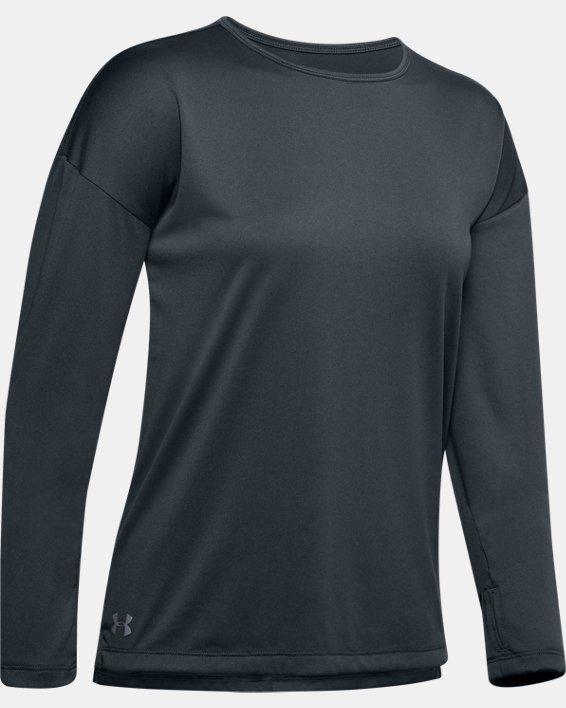Women's UA Locker Emboss Long Sleeve, Gray, pdpMainDesktop image number 0