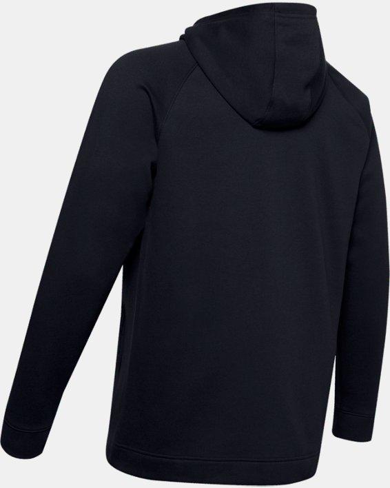 Men's UA Hustle Fleece Full Zip Hoodie, Black, pdpMainDesktop image number 5