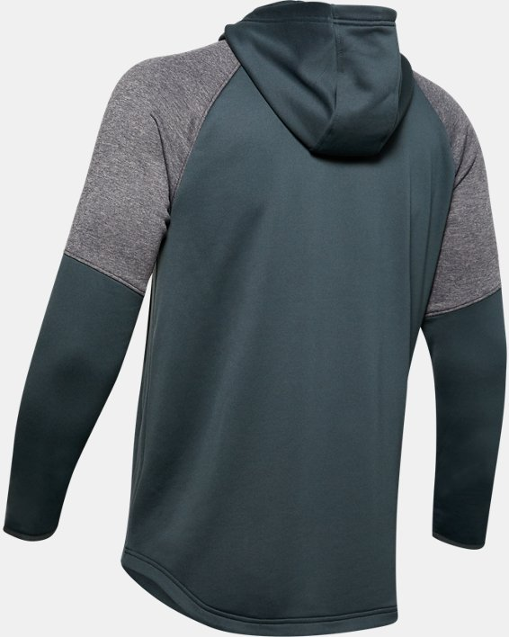 Men's UA Qualifier Fleece Anorak, Gray, pdpMainDesktop image number 5