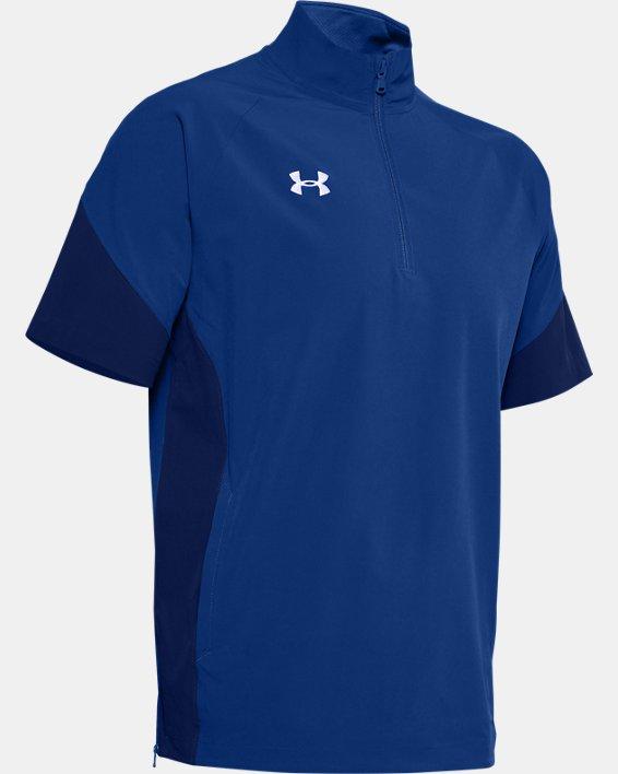 Men's UA Squad Coach's Short Sleeve ¼ Zip, Blue, pdpMainDesktop image number 4
