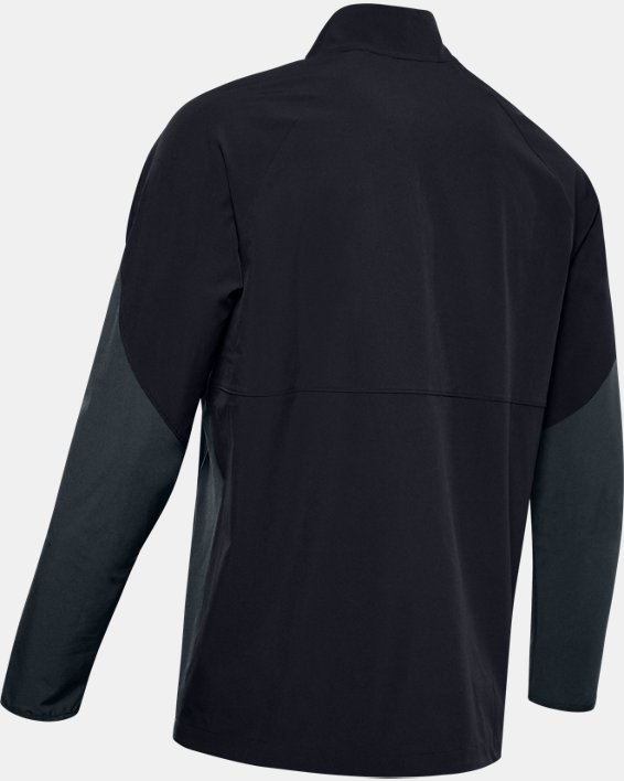 Men's UA Squad Coach's Long Sleeve ¼ Zip, Black, pdpMainDesktop image number 5